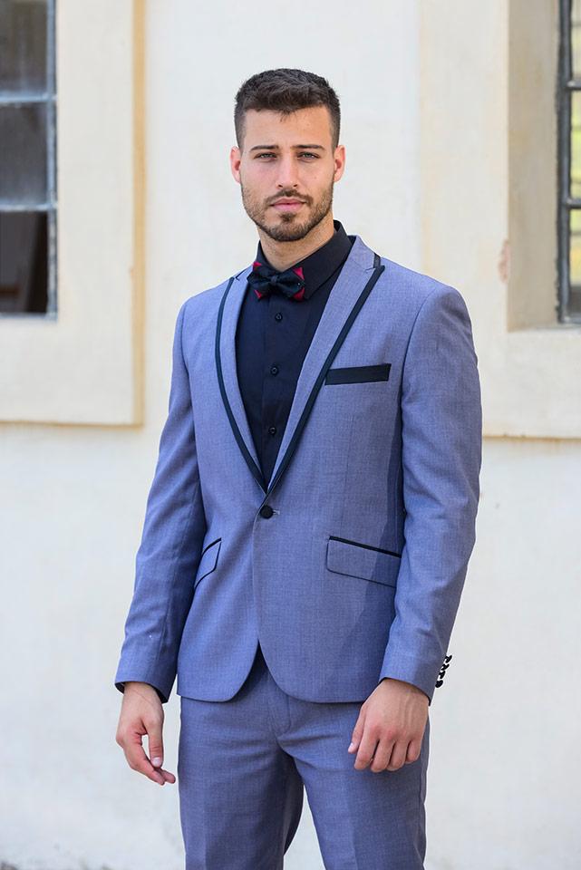 חליפת חתן קלאסית בצבעי כחול