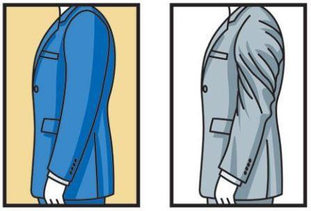 חליפה לא מותאמת - שרוולים מסובבים