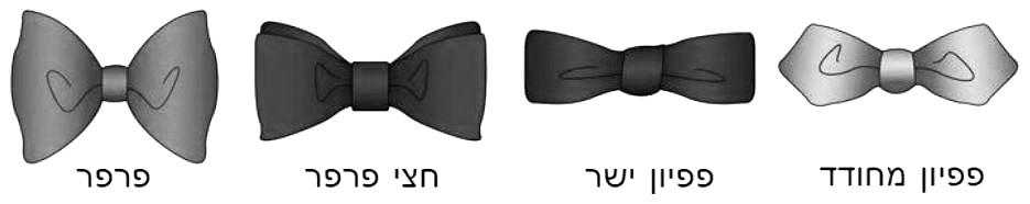 סוגים של פפיונים - עניבות פרפר